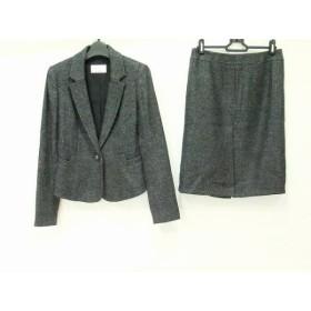 【中古】 エムプルミエブラック M-premierBLACK スカートスーツ レディース ダークグレー