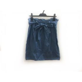 【中古】 チェスティ Chesty スカート サイズ1 S レディース ブルー デニム