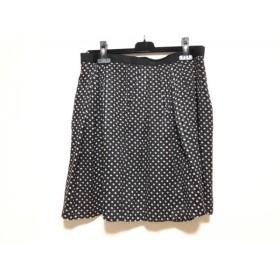 【中古】 マークバイマークジェイコブス スカート サイズ10 L レディース 黒 白 ベージュ