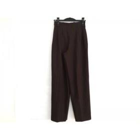 【中古】 バレンシアガ BALENCIAGA パンツ サイズ38 M レディース ダークブラウン ストライプ/La Mode