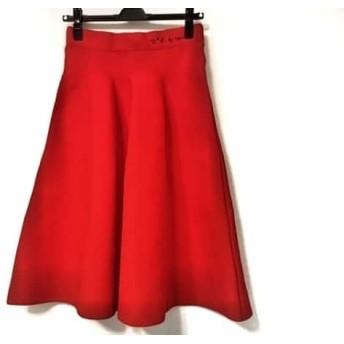 【中古】 アニエスベー agnes b スカート サイズ36 S レディース 美品 レッド