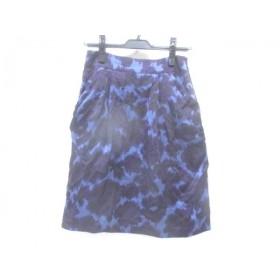 【中古】 バーニーズ BARNEYSNEWYORK スカート サイズ38 M レディース パープル マルチ