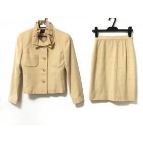 【中古】 ユキトリイ YUKITORII スカートスーツ サイズ9 M レディース ベージュ