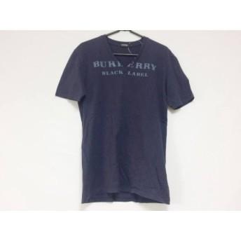 【中古】 バーバリーブラックレーベル 半袖Tシャツ サイズ2 M メンズ ダークネイビー