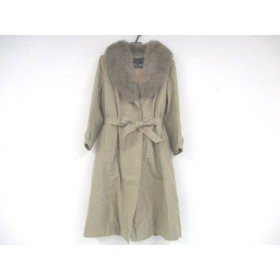 【中古】 フィアンセス FIANCESSE コート サイズ13 L レディース 美品 ライトブラウン ネーム刺繍/冬物