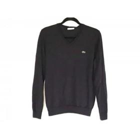 【中古】 ラコステ Lacoste 長袖セーター サイズ3 L メンズ ダークネイビー