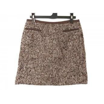 【中古】 トゥモローランド スカート サイズ38 M レディース ダークブラウン ベージュ マルチ