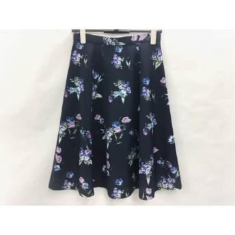 【中古】ジャスグリッティー スカート サイズ2 M レディース 美品 ネイビーxブルーxマルチ 花柄