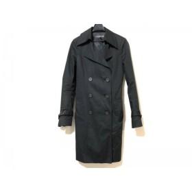 【中古】 ブラックバイマウジー BLACK by moussy トレンチコート サイズ2 M レディース 黒 春・秋物