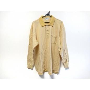 【中古】 バーバリーズ Burberry's 長袖ポロシャツ メンズ イエローベージュ