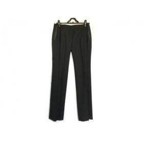 【中古】 セオリー theory パンツ サイズ2 S レディース 美品 黒 ウールシルク
