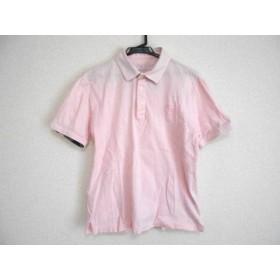 【中古】 ブラックレーベルクレストブリッジ 半袖ポロシャツ サイズM メンズ ピンク