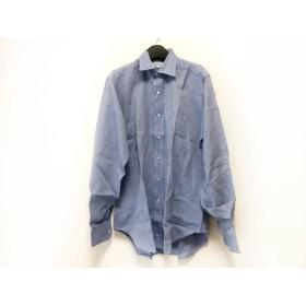 【中古】 バーニーズ BARNEYSNEWYORK 長袖シャツ サイズ15-35 メンズ ブルー