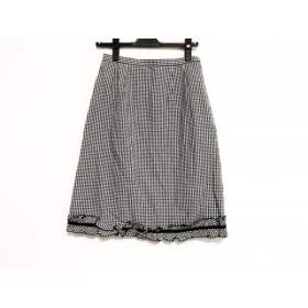 【中古】 ギャラリービスコンティ GALLERYVISCONTI スカート サイズM レディース 黒 白 チェック柄