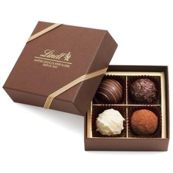 リンツ Lindt チョコレート チョコ スイーツ ギフト トリュフ ギフトボックス 4個入り