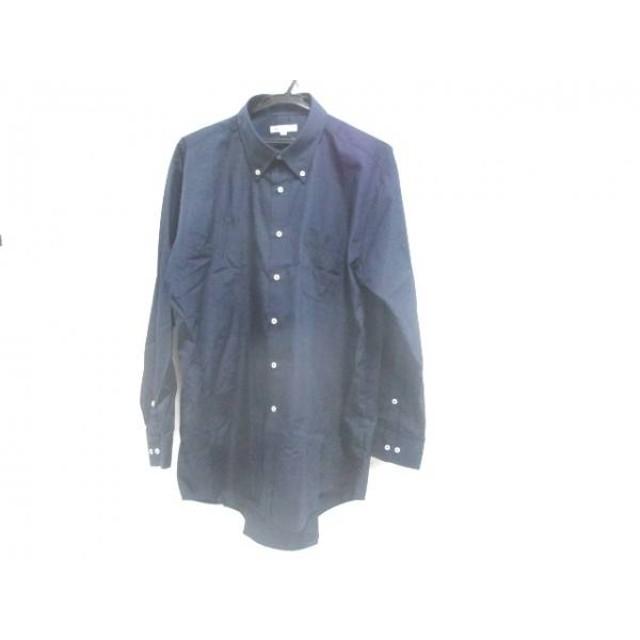 【中古】 ノーブランド 長袖シャツ サイズ3L メンズ ネイビー