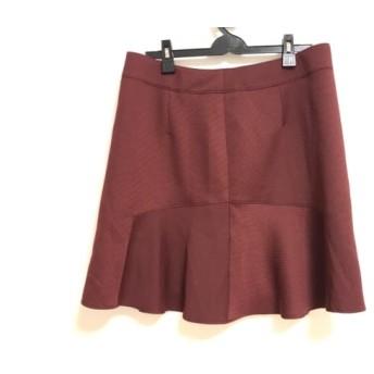 【中古】 ローズティアラ Rose Tiara スカート サイズ46 XL レディース 美品 ボルドー