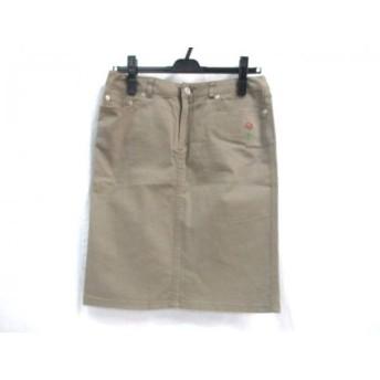 【中古】 ノーブランド スカート サイズ2 M レディース ベージュブラウン