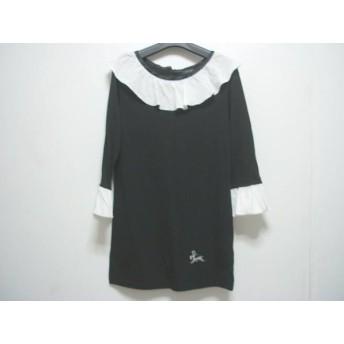 【中古】 ラドロー LUDLOW チュニック レディース 黒 白 フリル/刺繍
