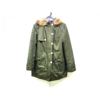 【中古】 シンシアローリー CYNTHIA ROWLEY コート サイズ3 L レディース カーキ 冬物/ファー