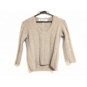 【中古】 マルニ MARNI 長袖セーター サイズ40 M レディース グレー