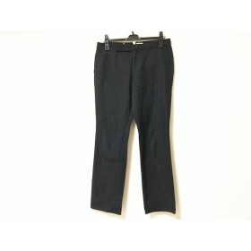 【中古】 ラルフローレン RalphLauren パンツ サイズ11 M レディース 黒 グレー ストライプ