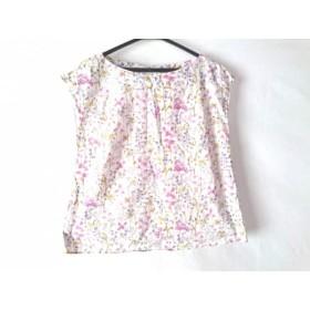 【中古】 アナトリエ ノースリーブカットソー サイズ36 S レディース 白 ピンク ダークグリーン 花柄