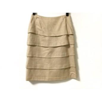【中古】 エポカ EPOCA スカート サイズ38 M レディース ベージュ ゴールド ラメ