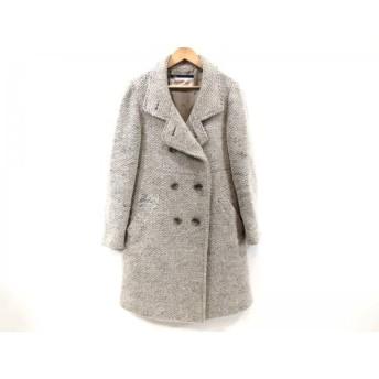 【中古】 ルージュヴィフ Rouge vif コート サイズ36 S レディース ピンクベージュ 白 黒 冬物