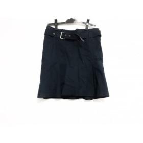 【中古】 バーバリーブルーレーベル Burberry Blue Label スカート サイズ38 M レディース ネイビー