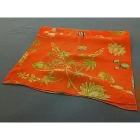 【中古】 サルバトーレフェラガモ ストール(ショール) 美品 オレンジ イエロー マルチ 魚柄 シルク