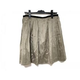 【中古】 ニジュウサンク 23区 スカート サイズ40 M レディース 美品 ベージュ