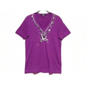 【中古】 トルネードマート TORNADO MART 半袖Tシャツ サイズL メンズ パープル 黒 ライトグレー
