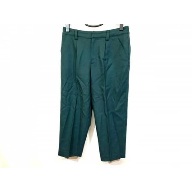 【中古】 グレースコンチネンタル GRACE CONTINENTAL パンツ サイズ38 M レディース 美品 ダークグリーン