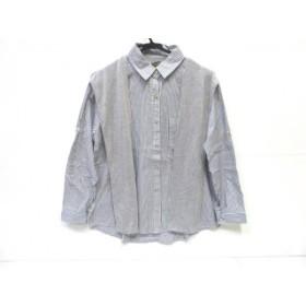 【中古】 ノーブランド 長袖シャツ サイズ3(M) レディース ブルー 白 グレー