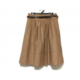 【中古】 ジャスグリッティー JUSGLITTY スカート サイズ1 S レディース ブラウン