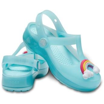 【クロックス公式】 クロックス イザベラ チャーム クロッグ キッズ Kids' Crocs Isabella Charm Clog ガールズ、キッズ、子供用、女の子 ブルー/青 15.5cm,16.5cm,17.5cm,18cm,18.5cm clog クロッグ サンダル