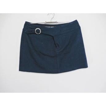 【中古】 マリークワント MARY QUANT ミニスカート サイズM レディース 美品 ダークグリーン