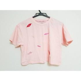【中古】 ハニーミーハニー Honey mi Honey 半袖Tシャツ サイズF レディース ピンク レッド