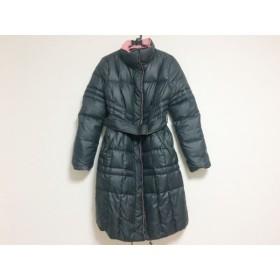 【中古】 ピンキー&ダイアン ダウンコート サイズ38 M レディース ピンク 黒 リバーシブル/冬物