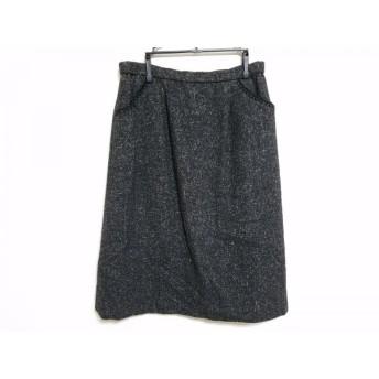 【中古】 レリアン Leilian スカート サイズ13 L レディース 黒 マルチ