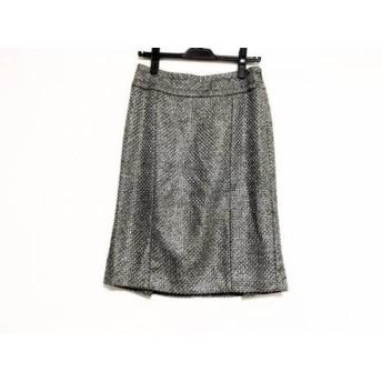 【中古】 バーバリーブラックレーベル スカート サイズ40 M レディース グレー ダークグレー