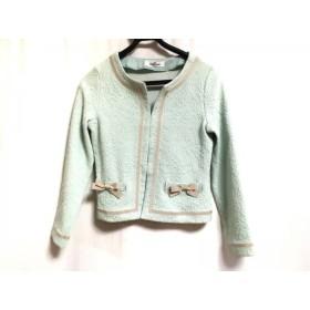 【中古】 ギャラリービスコンティ ジャケット サイズ2 M レディース ライトグリーン ベージュ リボン