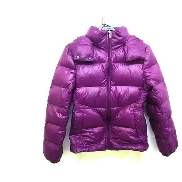 【中古】 バーバリーロンドン ダウンジャケット サイズ38 L レディース パープル フード取外し可/冬物