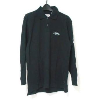 【中古】 キャロウェイ CALLAWAY 長袖ポロシャツ サイズS メンズ 黒