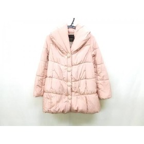 【中古】 セシルマクビー ダウンコート サイズM レディース ピンク フェイクパール/ビーズ/冬物
