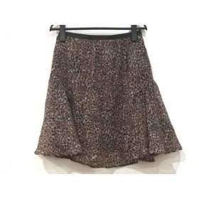 【中古】 ドゥーズィエム スカート サイズ38 M レディース ダークブラウン 黒 マルチ 豹柄
