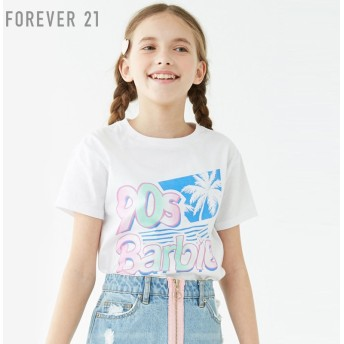 FOREVER21 フォーエバー21 【[KIDS]90s BarbieロゴTシャツ】(5,000円以上購入で送料無料)