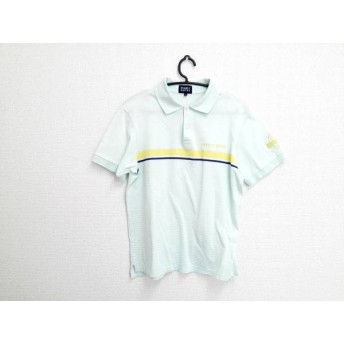 【中古】 パーリーゲイツ 半袖ポロシャツ サイズ4 XL メンズ ライトグリーン イエロー ネイビー
