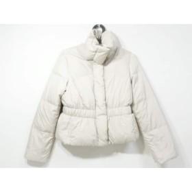 【中古】 アンタイトル UNTITLED ダウンジャケット サイズ2 M レディース 美品 ベージュ 冬物